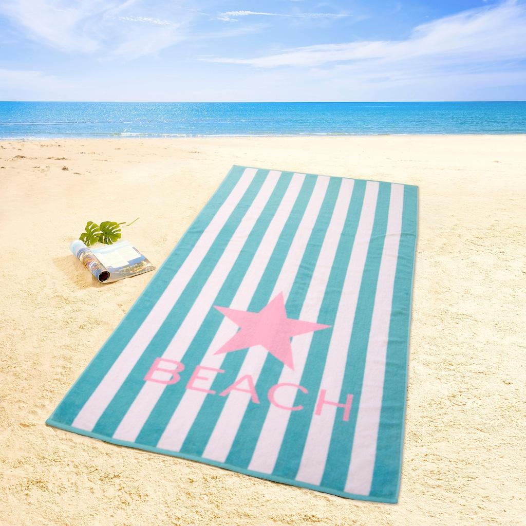 Dyckhoff Strandtuch »Beach«, (1 St.), mit Schriftzug