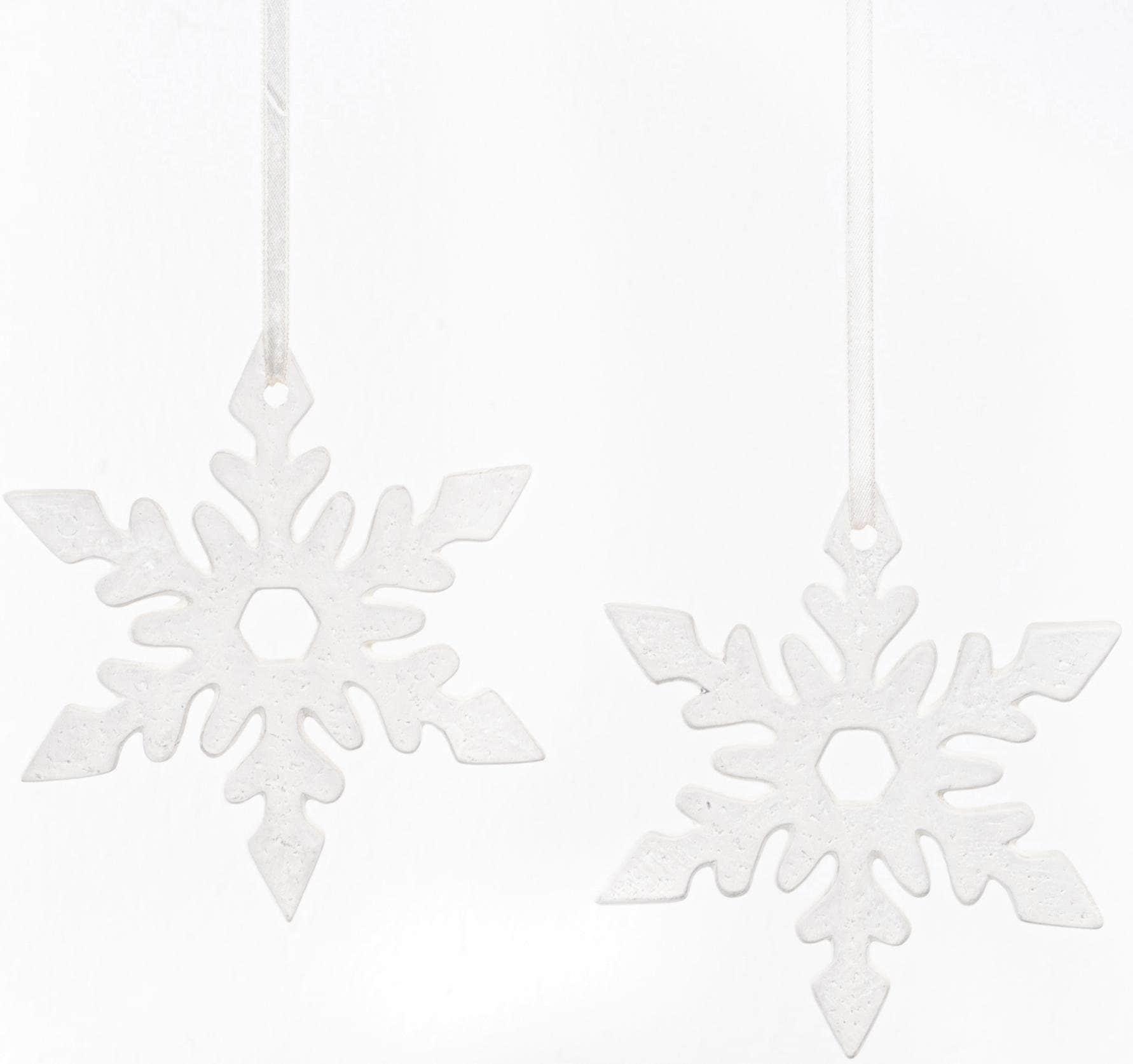 Fabriano Dekohänger Eiskristall Nerea, Ø 12 cm weiß Wanddekoration Deko Wohnaccessoires