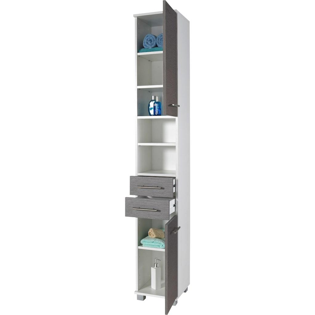 Schildmeyer Hochschrank »Palermo«, Breite 30 cm, verstellbare Einlegeböden, 2 Schubkästen & 2 Türen (Anschlag wechselbar)
