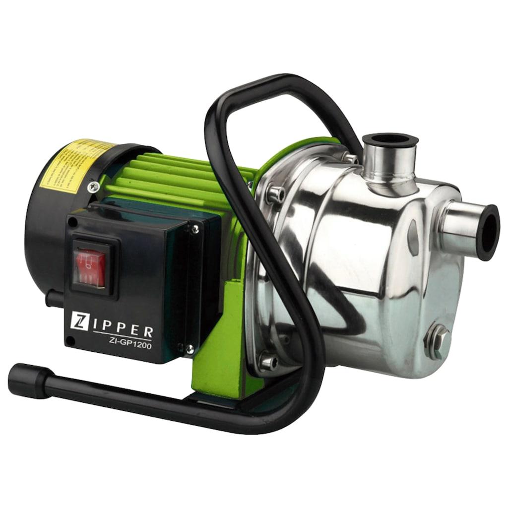 ZIPPER Gartenpumpe »ZI-GP1200«, 3.800 l/h Fördermenge