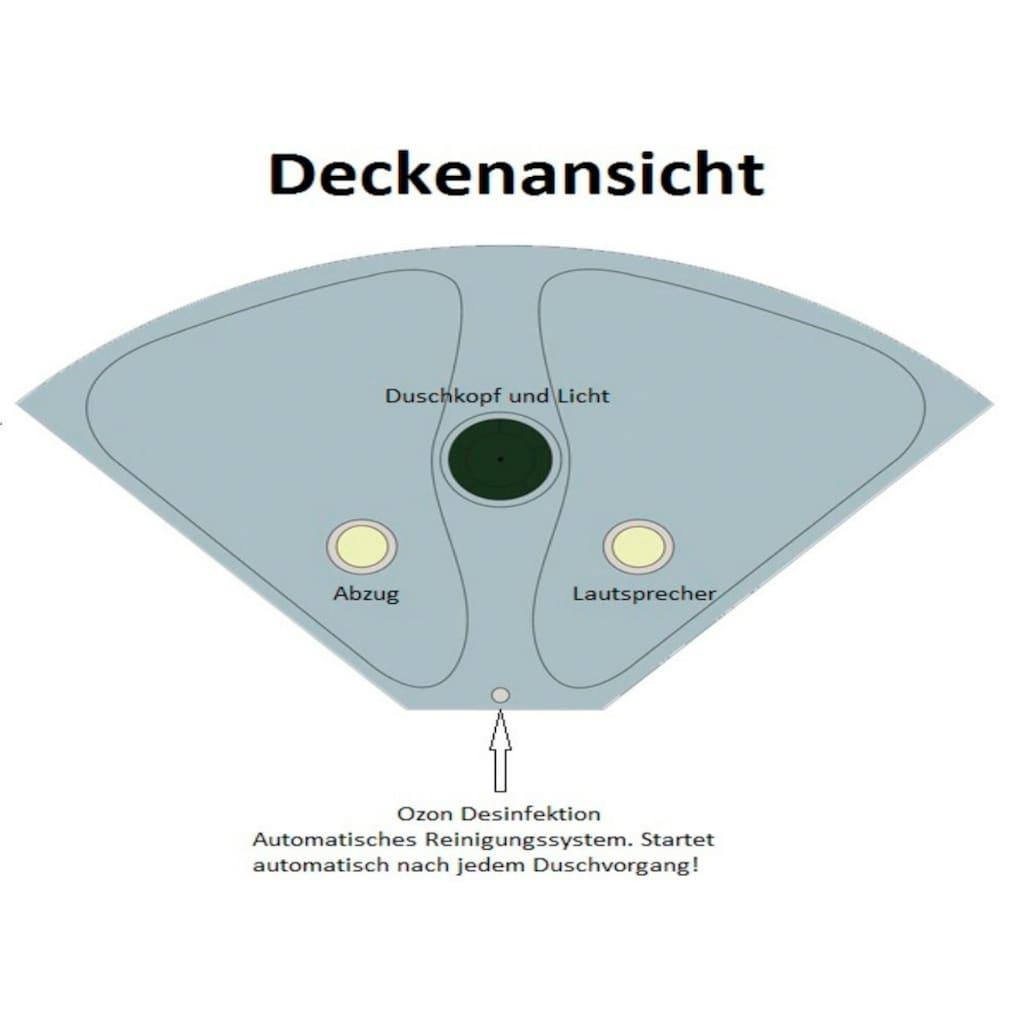 HOME DELUXE Dampfdusche, Dusche/Wanne/Sauna/Whirpool