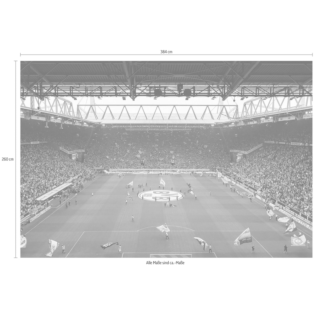 Wall-Art Fototapete »BVB - Fan-Choreo«