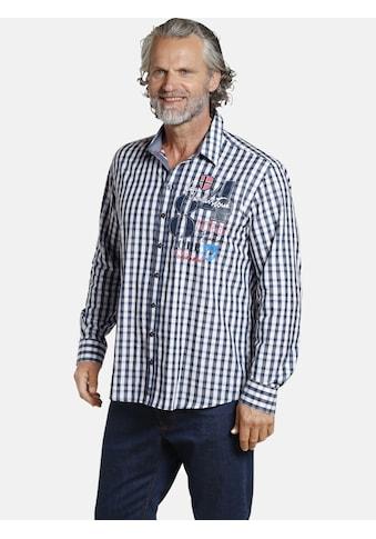 Jan Vanderstorm Karohemd »ALENKO«, Baumwollhemd mit Vichy-Karo kaufen