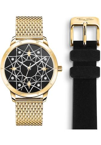 THOMAS SABO Quarzuhr »SET_WA0373-275-203«, (Set, 2 tlg., Uhr mit schwarzem... kaufen
