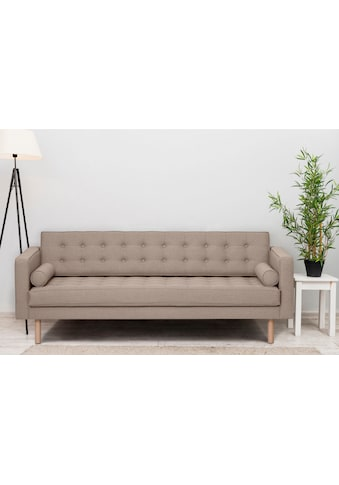 GEPADE 3-Sitzer, Breite 300 cm, inkl. Kissenrollen, mit buchefarbenen Holzfüße kaufen