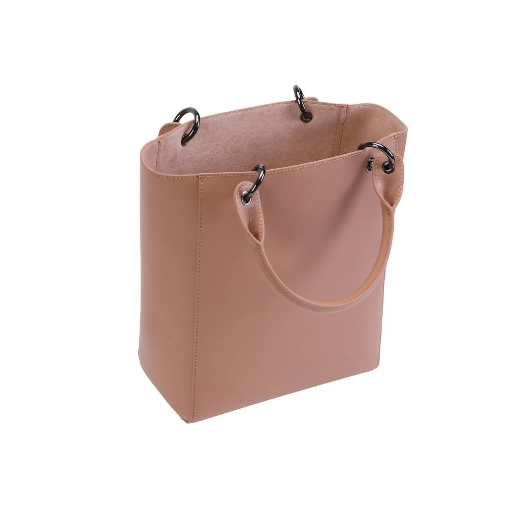 ekonika Henkeltasche, hergestellt aus echtem Leder