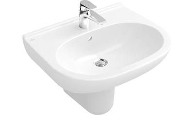 VILLEROY & BOCH Waschbecken »O.novo«, Weiß Alpin CeramicPlus, mit Überlauf kaufen