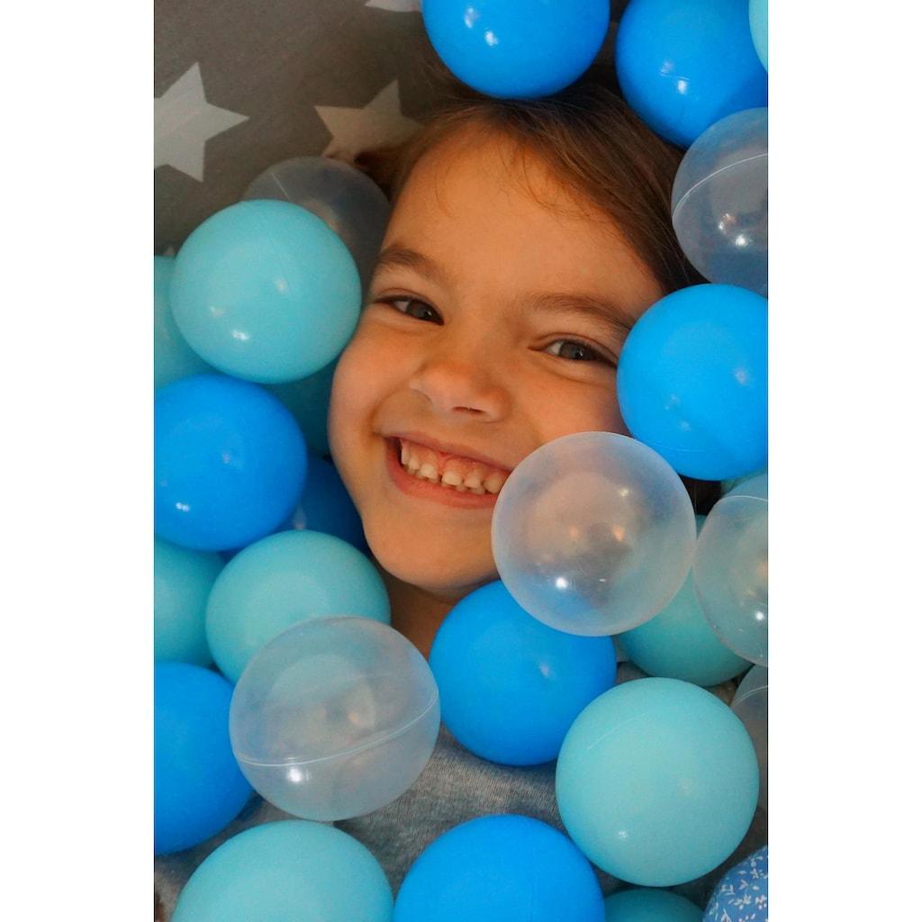 Knorrtoys® Bällebad »Soft, Grey white stars«, mit 300 Bällen balls/soft blue/blue/transparent; Made in Europe