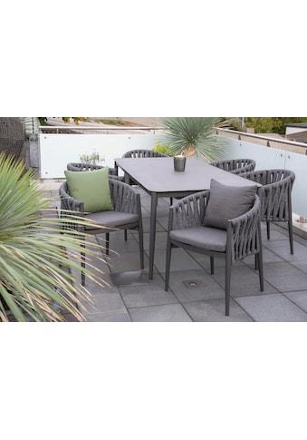 bella sole Gartenmöbelset, (7 tlg.), 6 Stühle mit Tisch kaufen