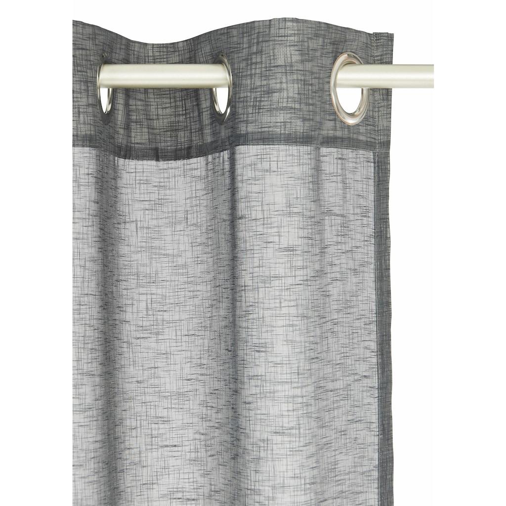 Home affaire Gardine »Larvik«, Vorhang, Fertiggardine, HxB: 300x140, transparent