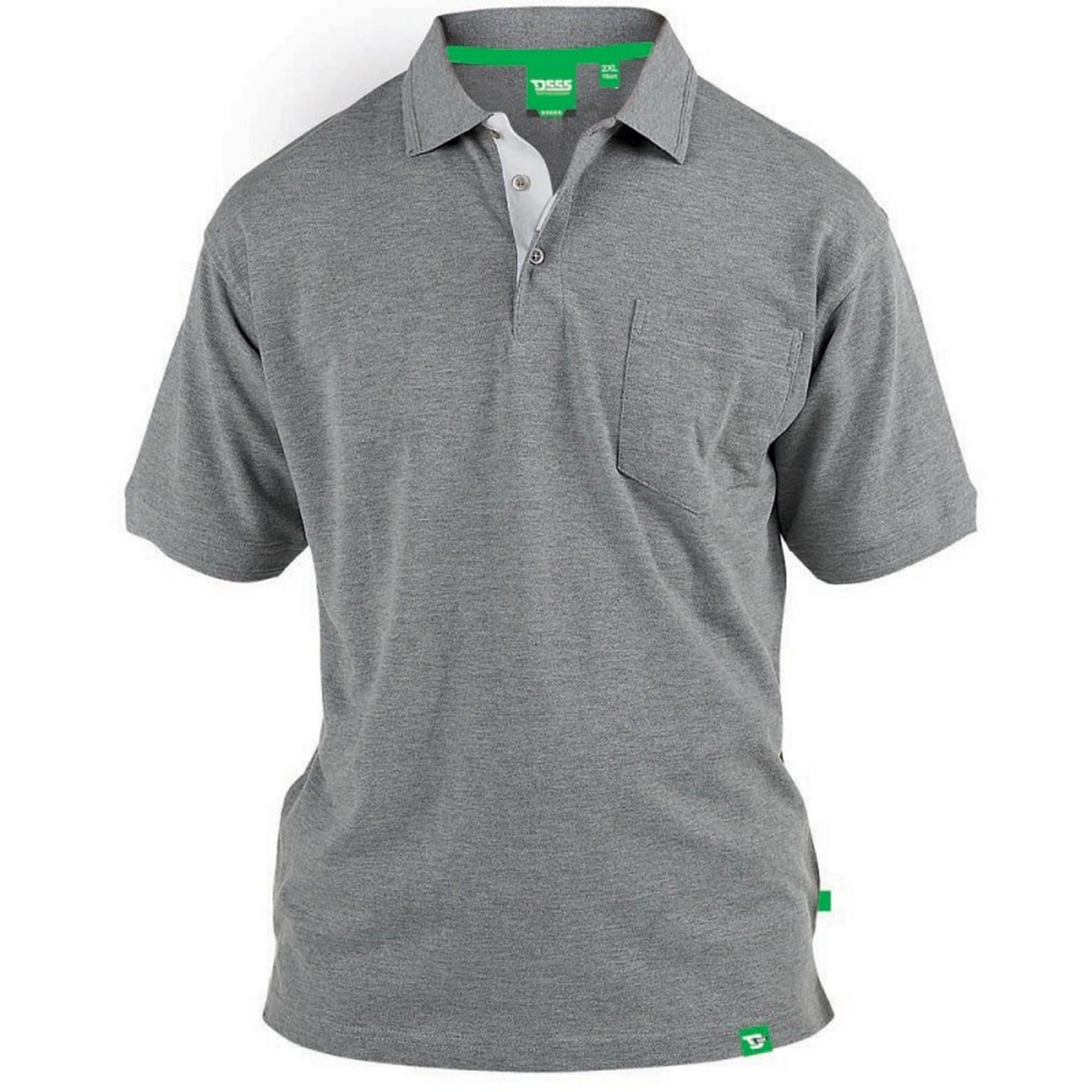 Duke Clothing Poloshirt Herren D555 Kingsize Pique- Grant | Bekleidung > Polo Shirts > Kurzarm | Grau | Duke Clothing