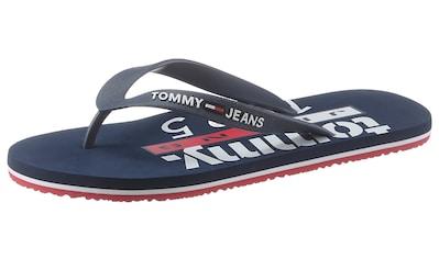 Tommy Jeans Zehentrenner »TOMMY JEANS BEACH SANDAL PRINT«, mit modischer Logodruck auf... kaufen