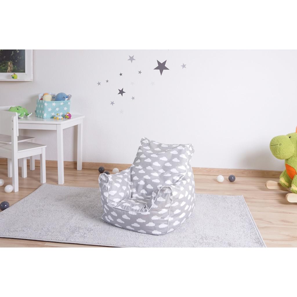 Knorrtoys® Sitzsack »Grey white clouds«, für Kinder; Made in Europe