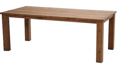 PLOSS Gartentisch »Laredo«, Teakholz, 200x100 cm, braun kaufen