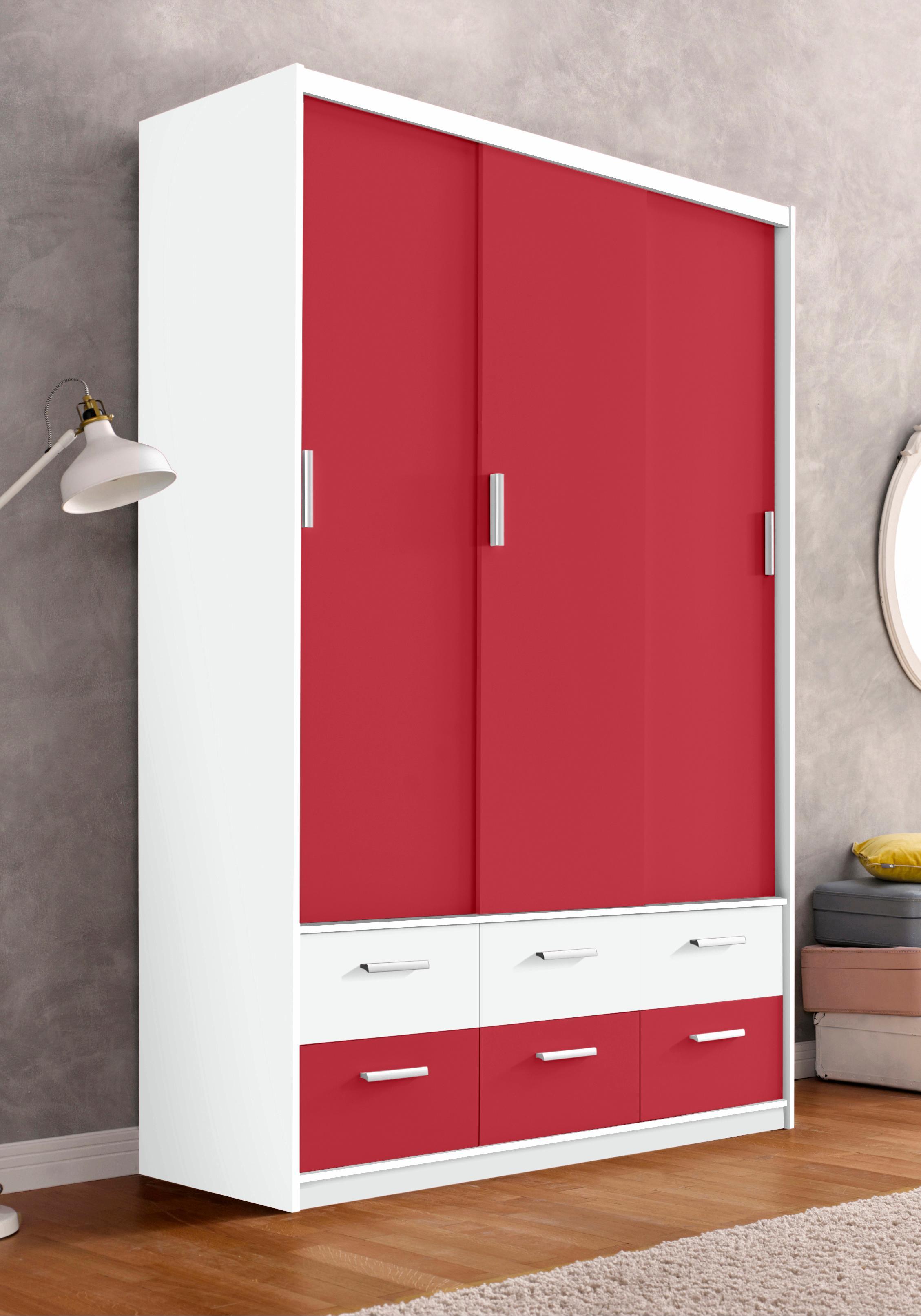 Kleiderschrank, rot