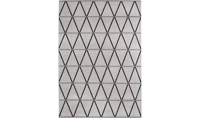 Andiamo Teppich »New Orleans 1«, rechteckig, 5 mm Höhe, Flachgewebe, Rauten Design, In- und Outdoor geeignet, Wohnzimmer kaufen
