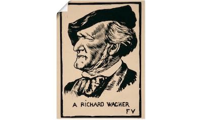 Artland Wandbild »Ein Richard Wagner. 1891«, Menschen, (1 St.), in vielen Größen &... kaufen
