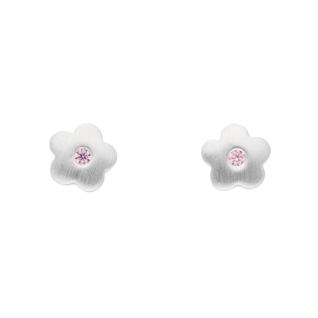 Adelia´s Paar Ohrstecker »925 Silber Ohrringe / Ohrstecker Blüte mit Zirkonia«, Silberschmuck für Damen