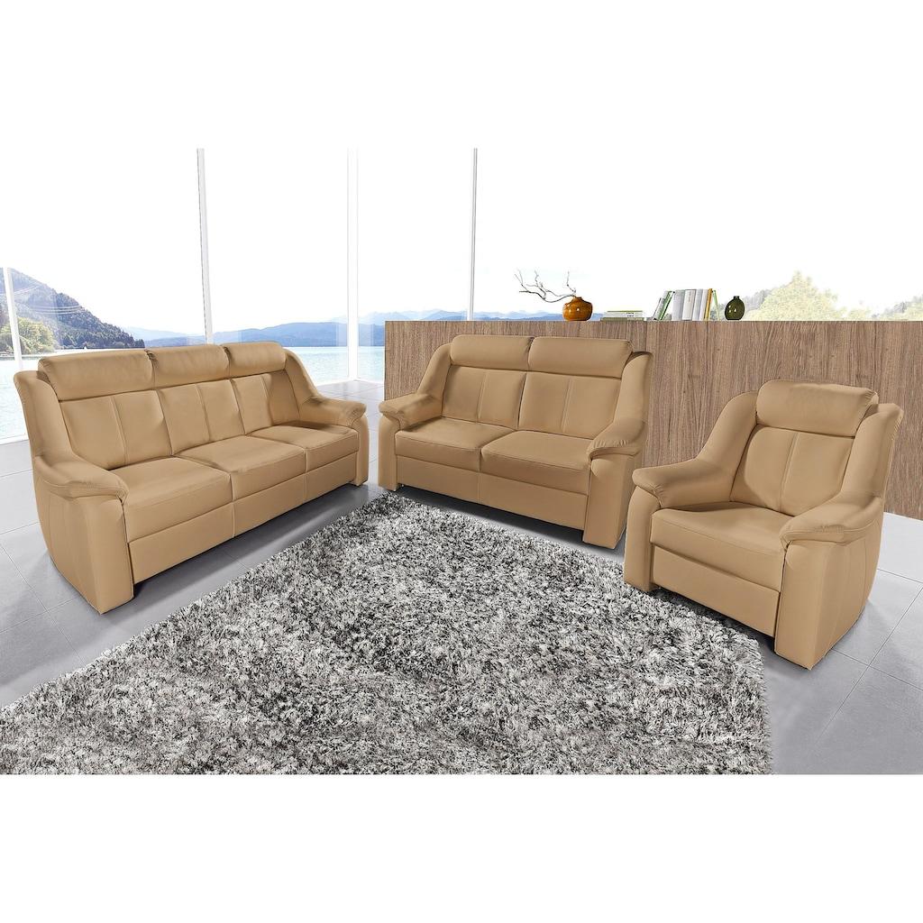 sit&more Polstergarnitur, Set, bestehend aus 3-Sitzer + 2-Sitzer + Sessel