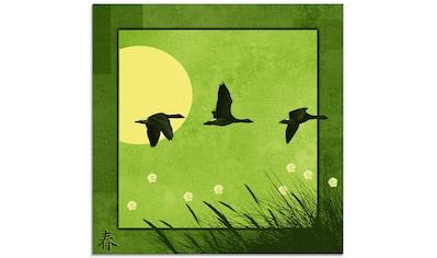 Artland Glasbild »Serie vier Jahreszeiten«, Vögel, (1 St.) kaufen