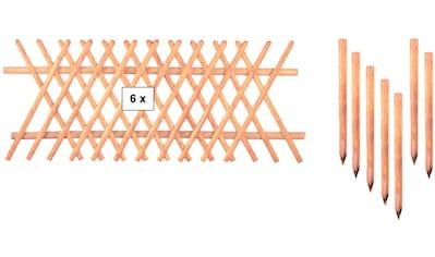 T&J Gartenzaun »Jägerzaun Jefferson 4«, 80 cm hoch, 6 Elemente für 15 Meter Zaun, mit... kaufen