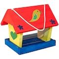 Windhager Vogelhaus »WOODPECKER Kit«, BxTxH: 12,5x16,5x22,6 cm, inkl. 4 Farben und Pinsel