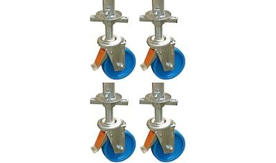 KRAUSE Set: Lenkrolle »ClimTec Fahrrollensatz«, 4 Stück, Ø 150 mm kaufen