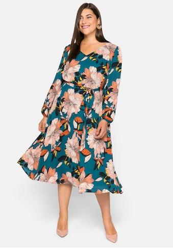 sheego by Joe Browns Tunikakleid, aus blickdichtem Georgette mit Blumendruck kaufen