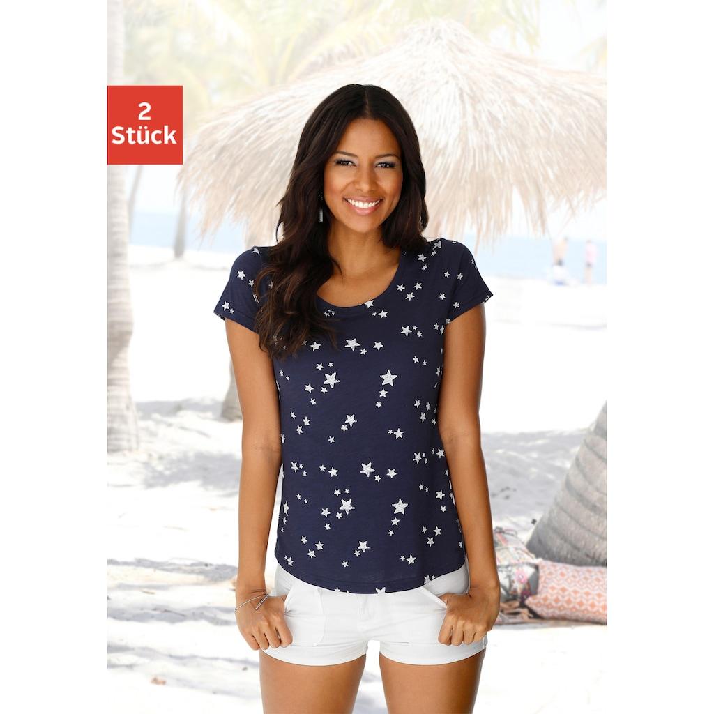 Vivance T-Shirt, mit schönem Sterne-Druck