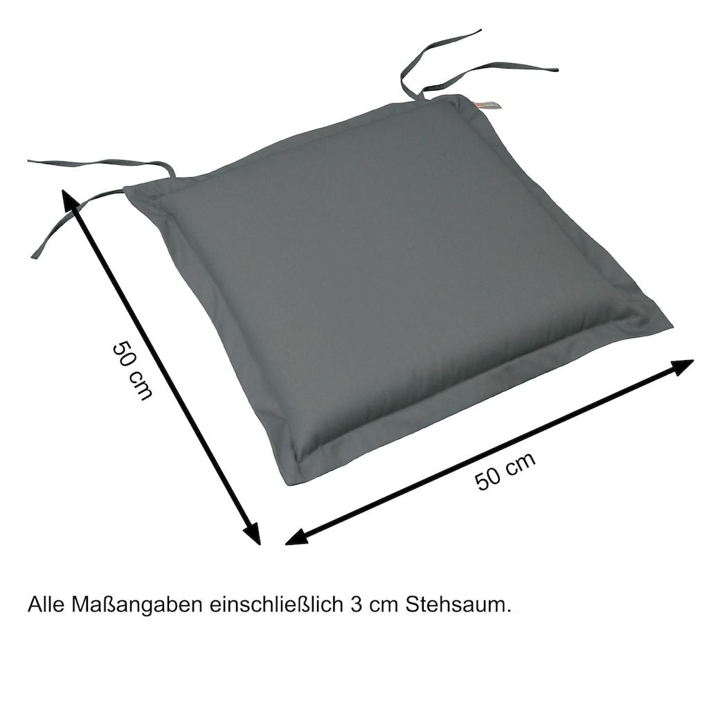indoba Sitzkissen »Premium«, extra dick - Grau - IND-70424-AUSK