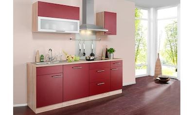 wiho Küchen Küchenzeile »Montana«, mit E-Geräten, Breite 210 cm kaufen