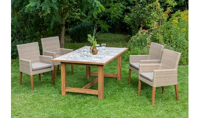 MERXX Gartenmöbelset »Ranzano«, 9 - tlg., 4 Sessel, Tisch 172x105 cm, inkl. Sitzkissen kaufen