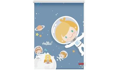 LICHTBLICK Seitenzugrollo »Klemmfix Digital Astronaut«, verdunkelnd, energiesparend, ohne Bohren, freihängend, bedruckt kaufen