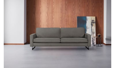 Places of Style 3-Sitzer »Pinto«, Maxi-Ausführung, mit Keder und Metallfüßen, auch mit Cord Bezug kaufen