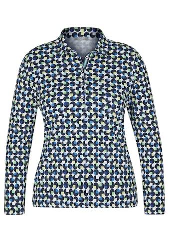Rabe Shirt mit geometrischem Allover - Muster und Knopfleiste kaufen