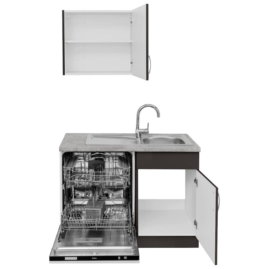 wiho Küchen Winkelküche »Brüssel«, mit E-Geräten, Stellbreite 310 x 170 cm