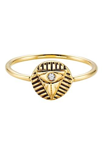 CAÏ Fingerring »925/- Sterling Silber vergoldet Zirkonia«, Ring kaufen