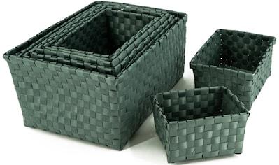 NOOR LIVING Aufbewahrungsbox, (Set, 9 St.), schlichtes, elegantes Design, Kunststoff kaufen