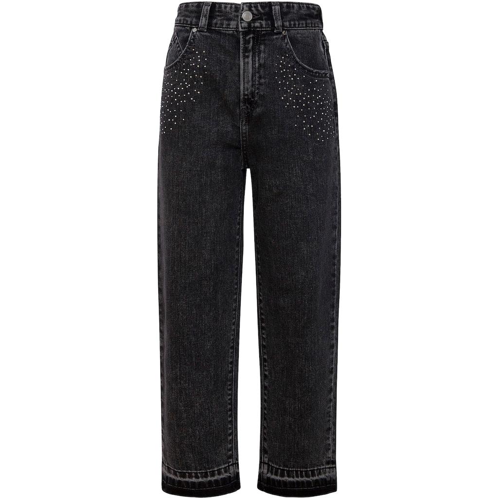 Pepe Jeans Weite Jeans »Paris«, mit Glitzersteinchen