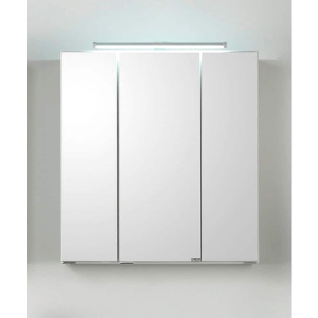 HELD MÖBEL Spiegelschrank »Siena«, Breite 80 cm, mit sparsamer LED-Beleuchtung