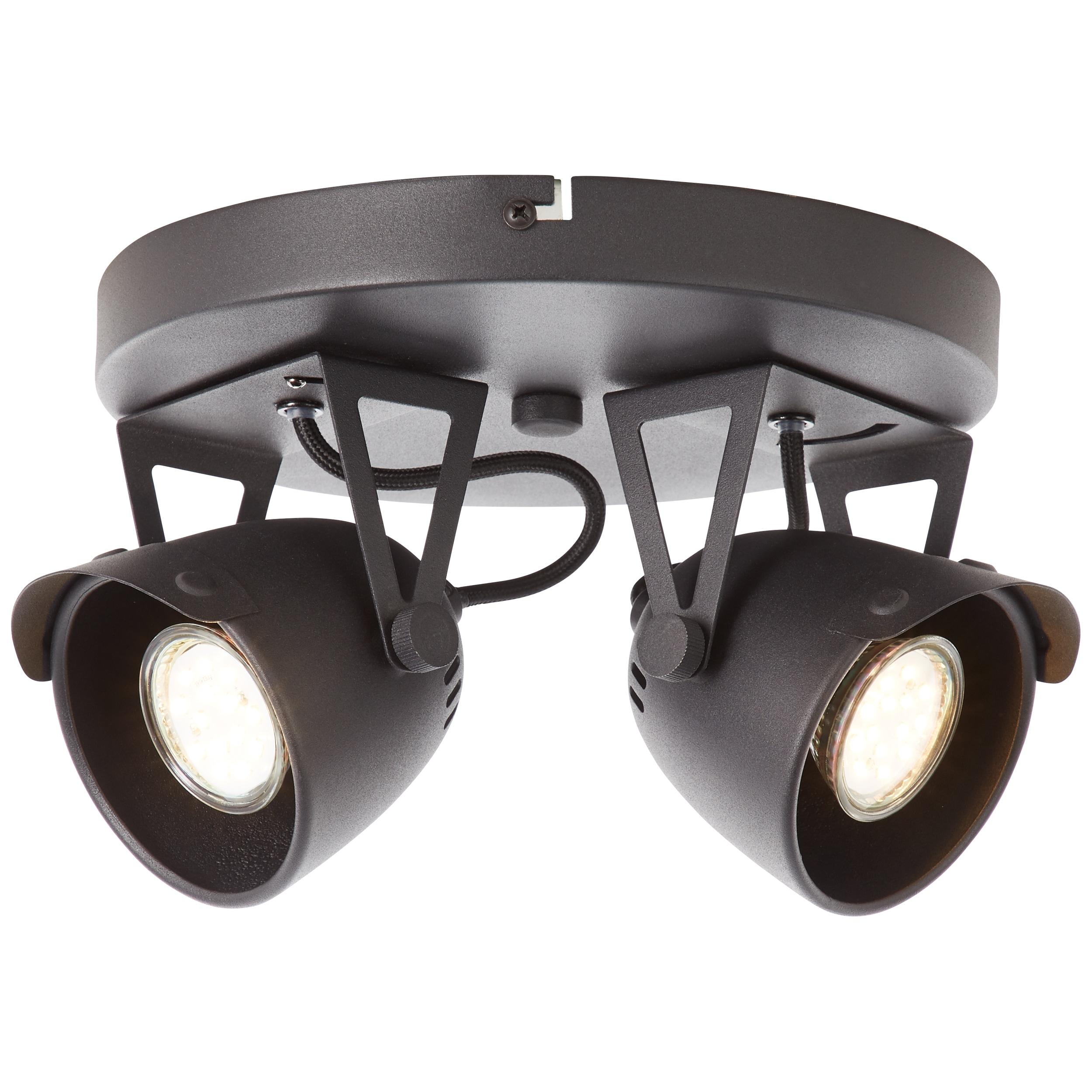 Brilliant Leuchten Ka Spotrondell 2flg schwarz korund