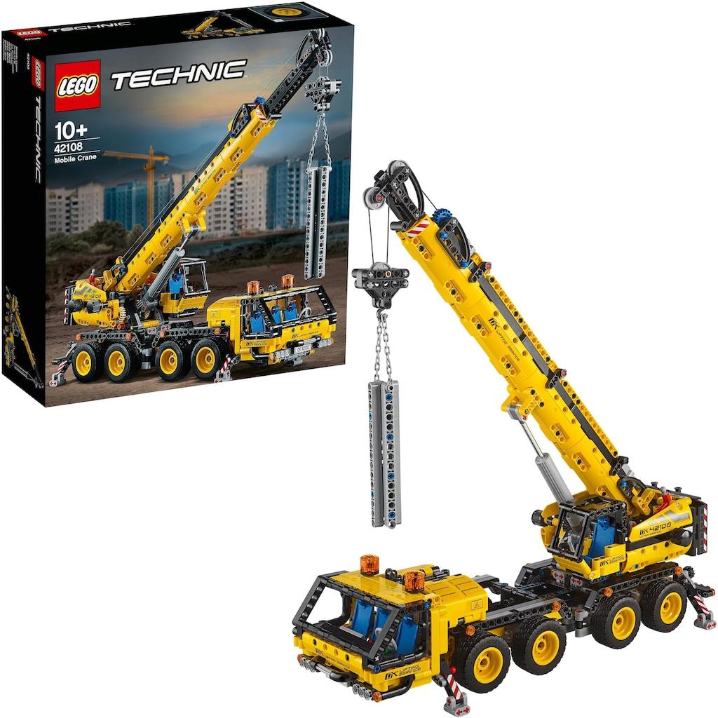 LEGO® Konstruktionsspielsteine »Kran-LKW (42108), LEGO® Technic«, (1292 St.), Made in Europe