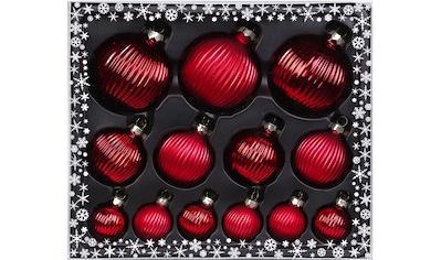 MAGIC by Inge Weihnachtsbaumkugel »Ruby Red«, (Set, 13 St.), hochwertiger... kaufen