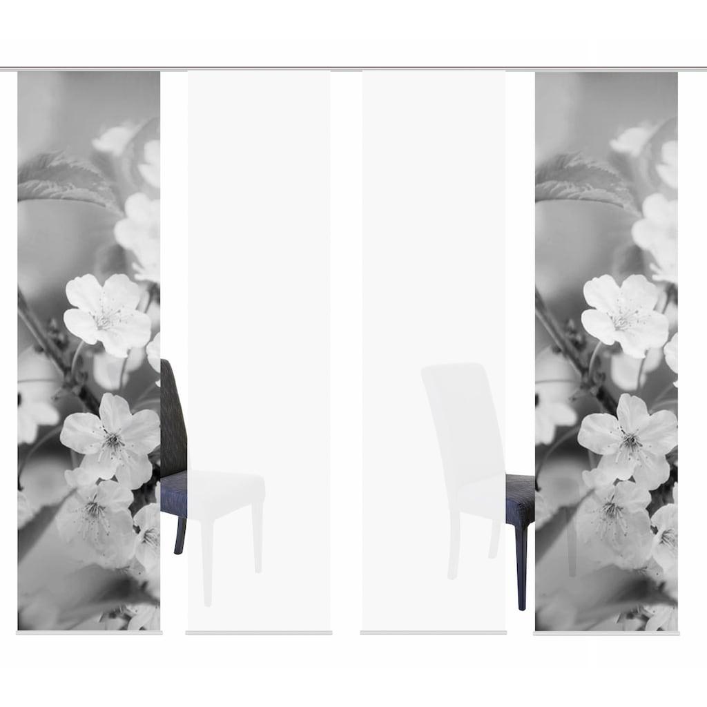 HOME WOHNIDEEN Schiebegardine »4ER SET NILA«, HxB: 245x60, Schiebevorhang 4er Set Digitaldruck