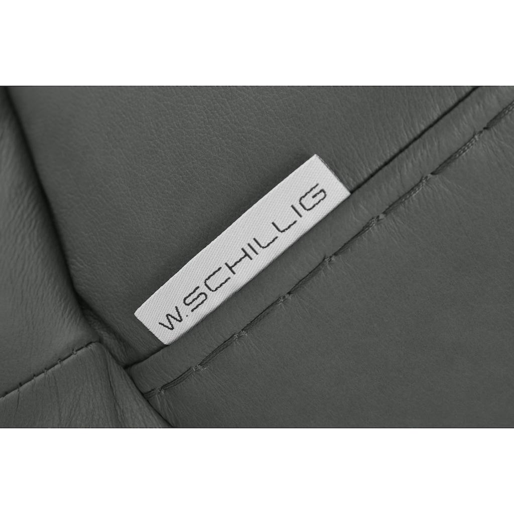W.SCHILLIG 2,5-Sitzer »montanaa«, mit Metallfüßen in Schwarz pulverbeschichtet, Breite 232 cm