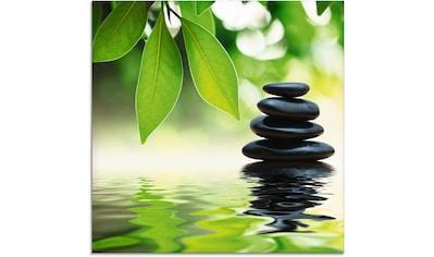 Artland Glasbild »Zen Steinpyramide auf Wasseroberfläche«, Zen, (1 St.) kaufen