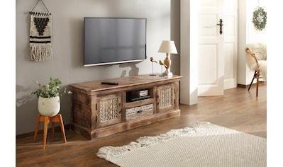 Home affaire Lowboard »Maneesh«, aus schönem massivem Mangoholz und mit vielen... kaufen