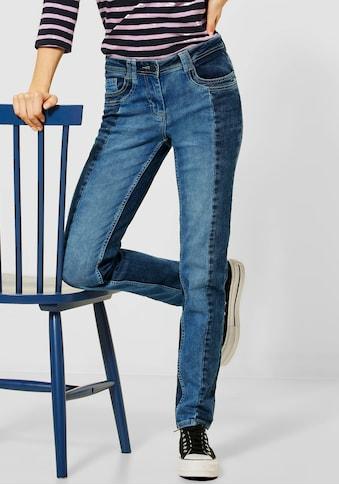Cecil Slim-fit-Jeans »Style Charlize«, mit Kontrasteinsätzen kaufen
