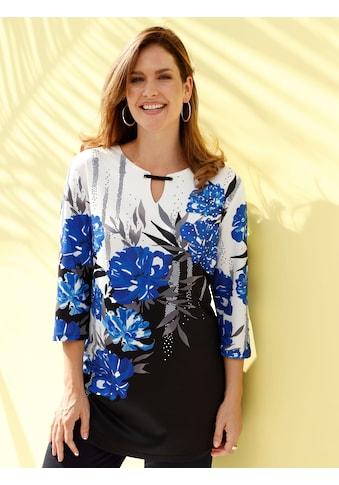 m. collection Longshirt, in platziertem floralem Druckdesign kaufen