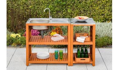 MERXX Gartentisch , Eukalyptus, 90x46 cm, braun kaufen